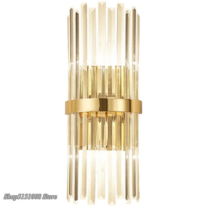 Americano lâmpadas de parede cristal luxo moderno simples sala estar quarto cabeceira luz da parede luminaria decoração da sua casa arandela luminária