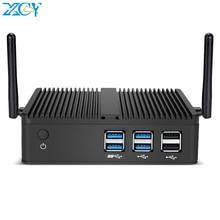 XCY Мини ПК Intel Core i7 4500U i5 4200Y i3 4010U DDR3L RAM mSATA SSD WiFi Gigabit LAN безвентиляторный HDMI VGA 6xusb HTPC Windows 10