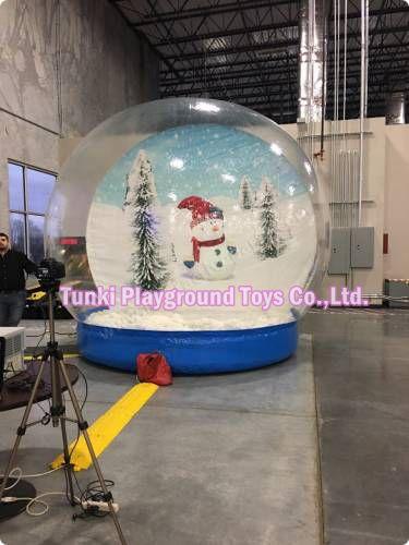 3 metros al aire libre barato gigante Navidad inflable globo de nieve burbuja tienda