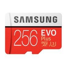 삼성 마이크로 SD TF 카드 64 기가 바이트 128 기가 바이트 256 기가 바이트 클래스 10 플래시 메모리 Microsd 카드 64 128 256 기가 바이트 스마트 폰 어댑터