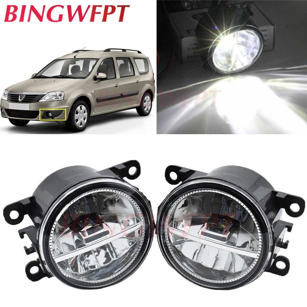 2 unids/lote para Dacia Duster Logan MCV Sandero 2004-2015 luces LED antiniebla H11 12V lámparas halógenas de montaje de lámpara antiniebla