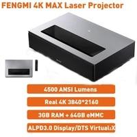 XIAOMI     projecteur Laser FENGMI 4K MAX  4500ANSI  Ultra court  DTS virtuel  son X  MEMC  WIFI  pour Home cinema  Android