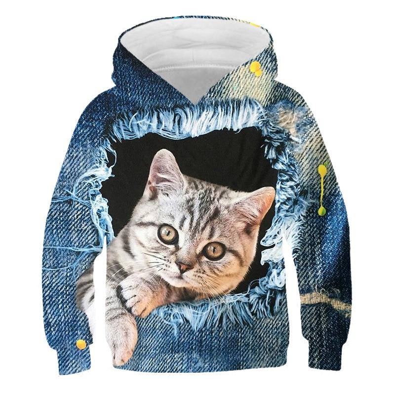Sudadera con capucha para niña y niño, ropa de poliester, impresión en...