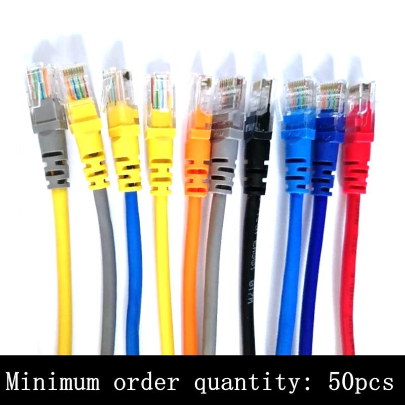 50 قطعة CAT5 CAT5e CAT6e UTP إيثرنت شبكة الكابل الذكور إلى الذكور RJ45 التصحيح LAN كابل قصير 10 سنتيمتر 20 سنتيمتر 30 سنتيمتر 50 سنتيمتر 100 سنتيمتر 2m 3m 5m 10m