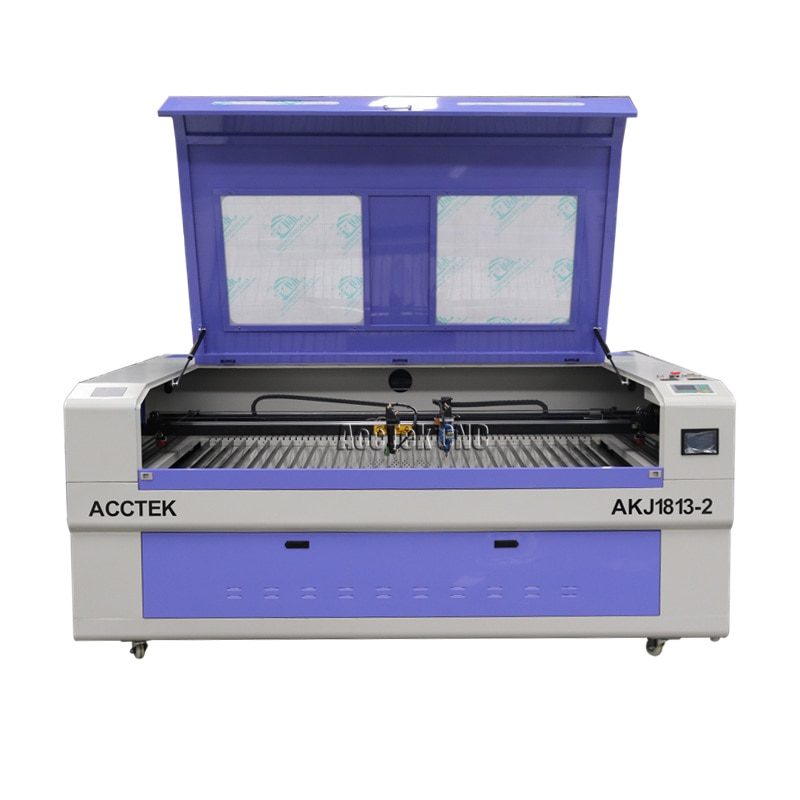 60W 80W 100W 120W 150W Acrílico Madeira MDF Tecido CO2 Preço Da Máquina de Corte A Laser de Plástico com Guia Hiwin Trilhos