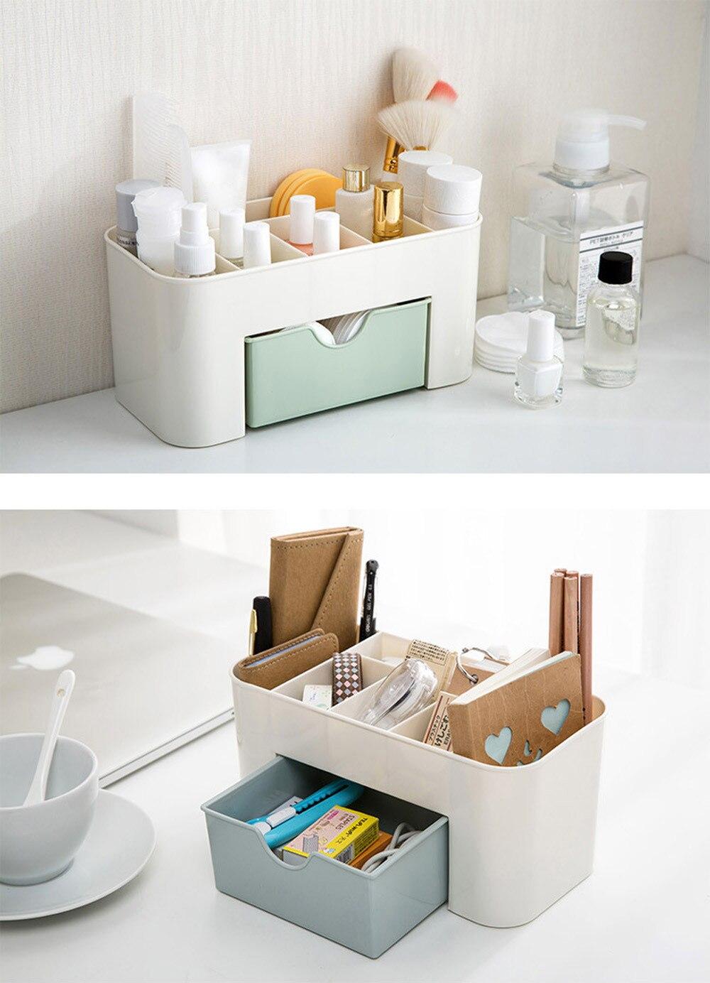 Économie despace bureau Comestics maquillage rangement tiroir Type boîte bethroom stockage maquillage boîte rangement organisateur maison organisateur