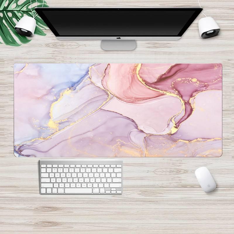 Mousepad grande com estampa de mármore, colorido, para pc, computador, tablet, teclado, pc, mesa, xg