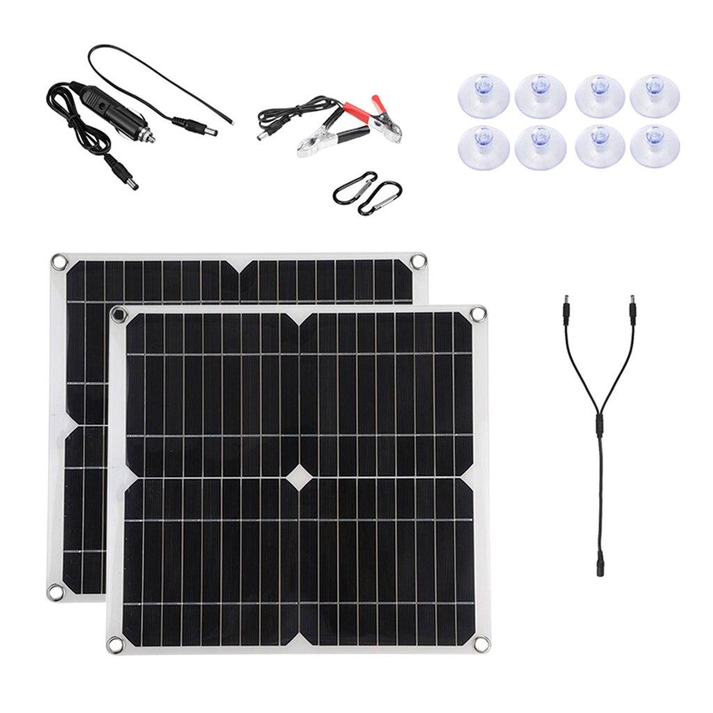 300 واط لوحة طاقة شمسية 2 في 1 مع تحكم مقاوم للماء الخلايا الشمسية بولي الخلايا الشمسية للسيارة يخت شاحن بطارية RV