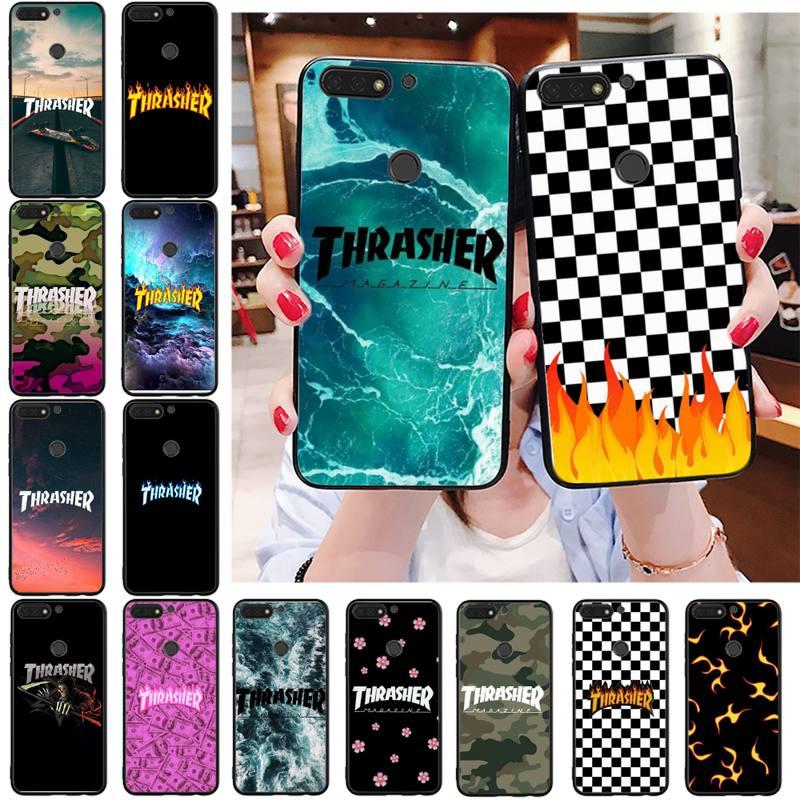 Милый чехол для телефона Babaite thrasher Bling для Huawei Honor 8X 9 10 20 Lite 7A 7C 10i 9X play 8C 9XPro