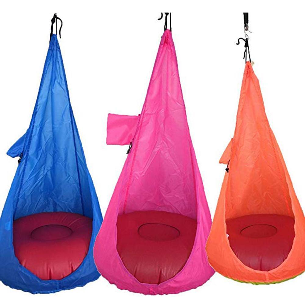 Детский прочный гамак-стул для детей, удобное подвесное кресло для использования в помещении и на открытом воздухе