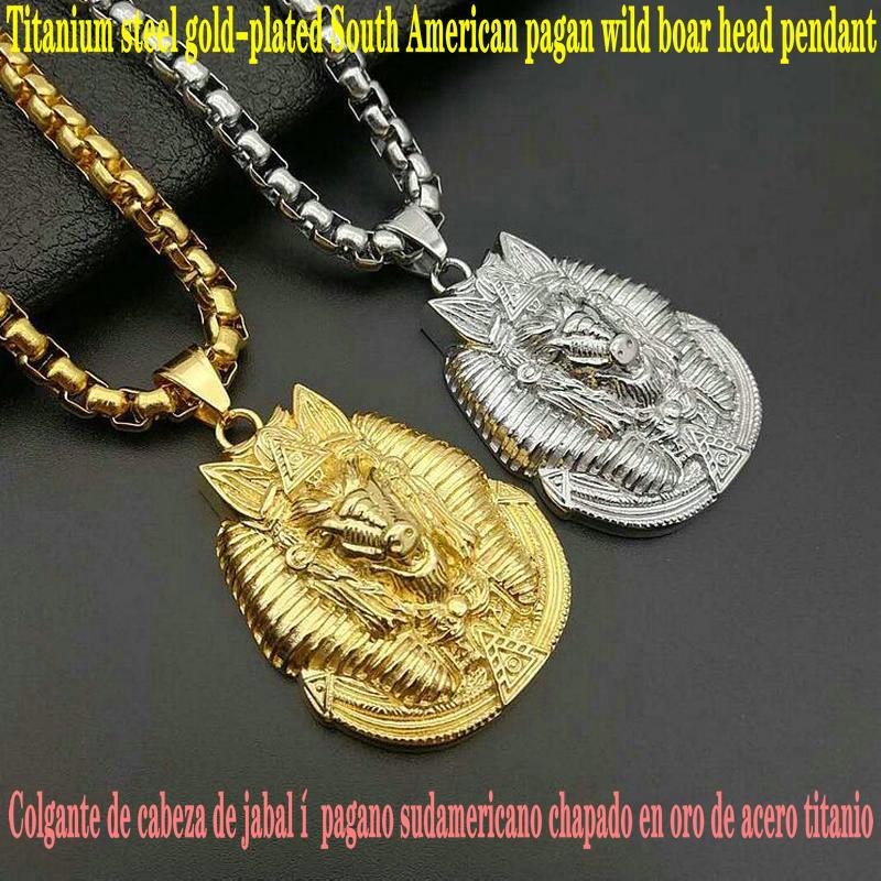 Colgante de Faraón negro, colgante de mano de Buda rezando, colgante de amuleto Ojo de Horus, colgante de cabeza de jabalí pagano sudamericano