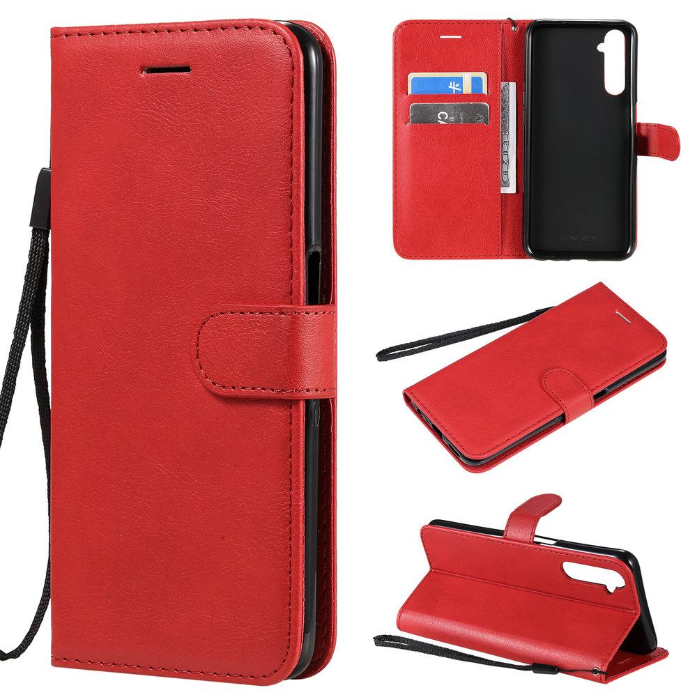 Realme 6 Pro Protective Case Leather Plain Wallet Holder for OPPO Realme 6 Pro Case Phone Cover Funda Realme 6S Case Realme6 6 S