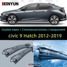 "Coated wiper Front Wiper Blades For Honda Civic 9 Hatchback Tourer Europe Model 2012 - 2019 Windshield Windscreen 26""18"""