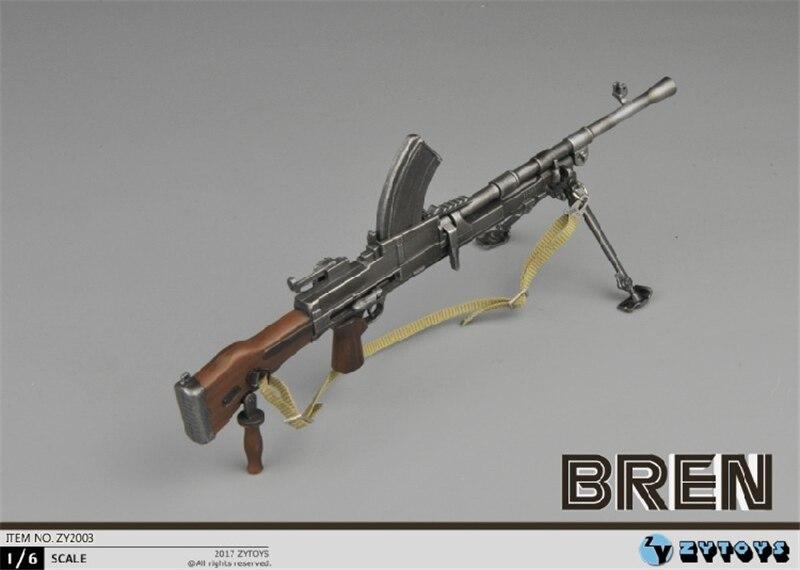Escala 16, pistola Submachine Bren MK, arma de la Segunda Guerra Mundial, modelos de juguetes de plástico aptos para 12 pulgadas, figura de acción no puede disparar