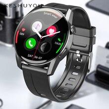 KESHUYOU Smart Watch Men Sport Fitness Clock Heart Rate Waterproof Bluetooth Call Watch PK huawei wa