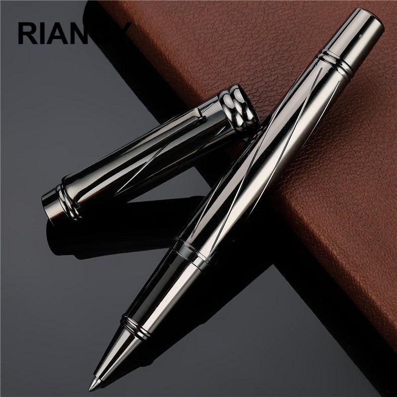 Luxury Silver plating Ballpoint pen Metal Ball Pens For school Vulpen Stationery plume Penna stilografica Vulpen boligrafo 3732