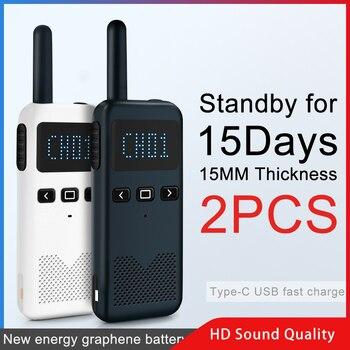 Talkie-walkie 2 pièces KSUN KSM3 Civil kilomètre haute puissance interphone extérieur portable Mini Radio talkie-walkie
