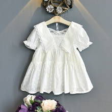 girl dress Children's clothing girls summer short-sleeved dress 2021 new children's lace princess ki