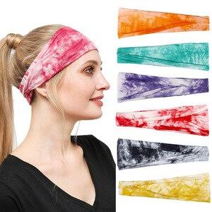 Women Headpiece Stretch Sports Yoga Headband Running Fitness Headwear Anti Sweat Absorbing Hair Bands Headbands Wide Headwrap Di