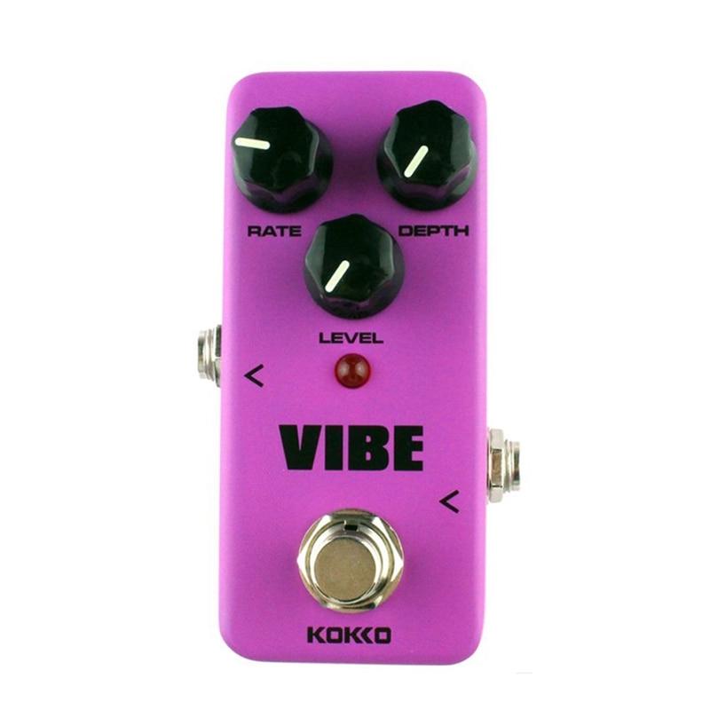 Kokko guitarra mini efeitos pedal vibe-analógico efeito de alto-falante rotativo processador de som acessório portátil para guitarra e baixo-f