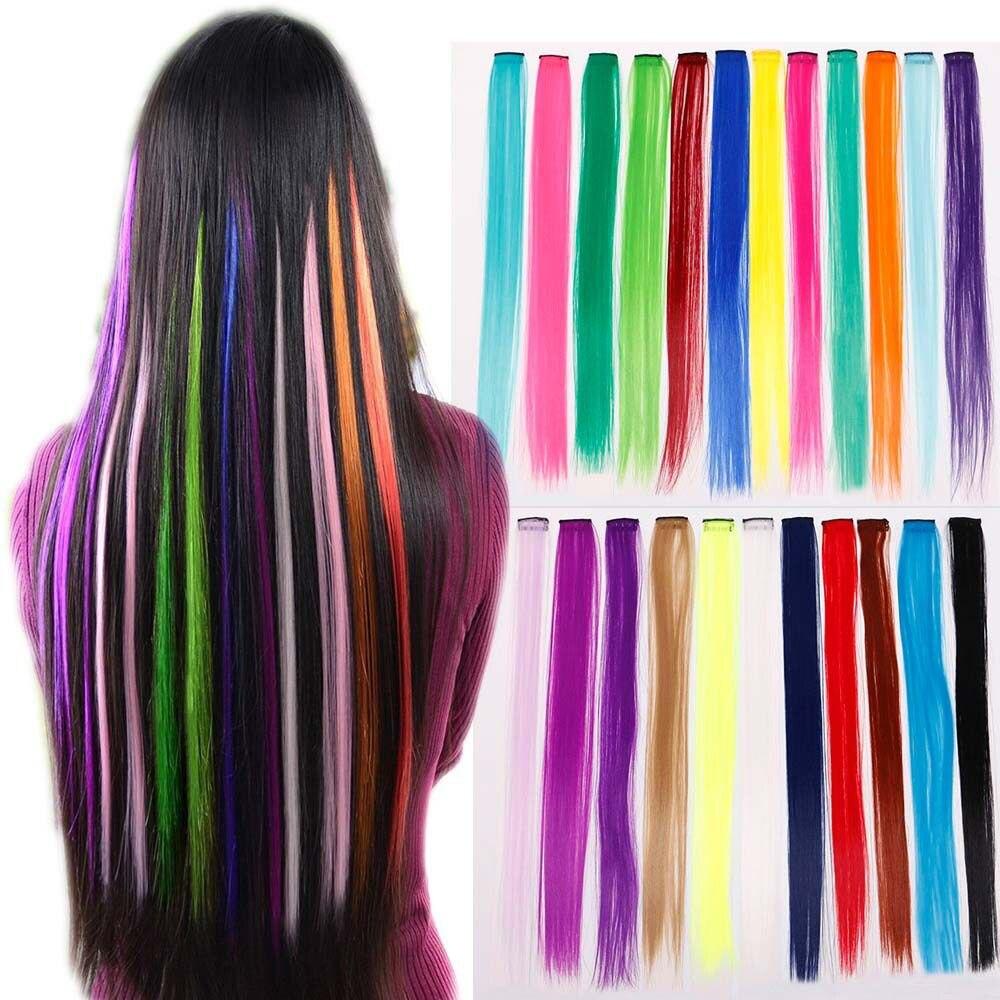 50 см волосы для наращивания синий фиолетовый волосы прядь Мода синтетические волосы для наращивания миниатюрные вязанные крючком длинные плетеные волосы