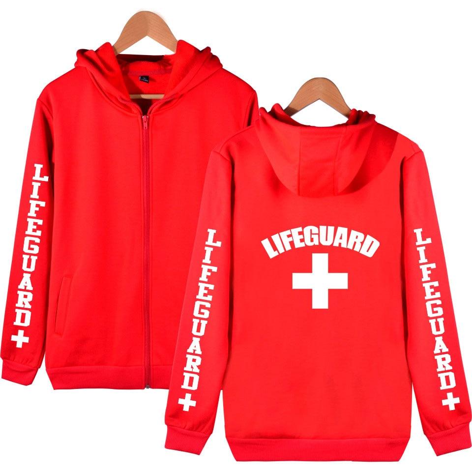 Life Guard Zipper Hoodies Men Women Unisex Sweatshirt Autumn Winter Fleece Harajuku Lifeguard Streetwear Zip Up Hooded Clothes