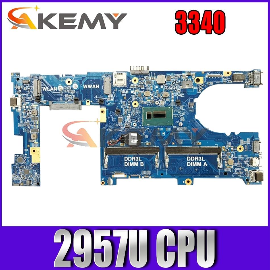 Akemy CN-0DKY98 DKY98 لأجهزة الكمبيوتر المحمول Dell Latitude 3340 اللوحة الرئيسية 13229-1 PWB:5X37M 2957U الكمبيوتر المحمول 100% اختبارها