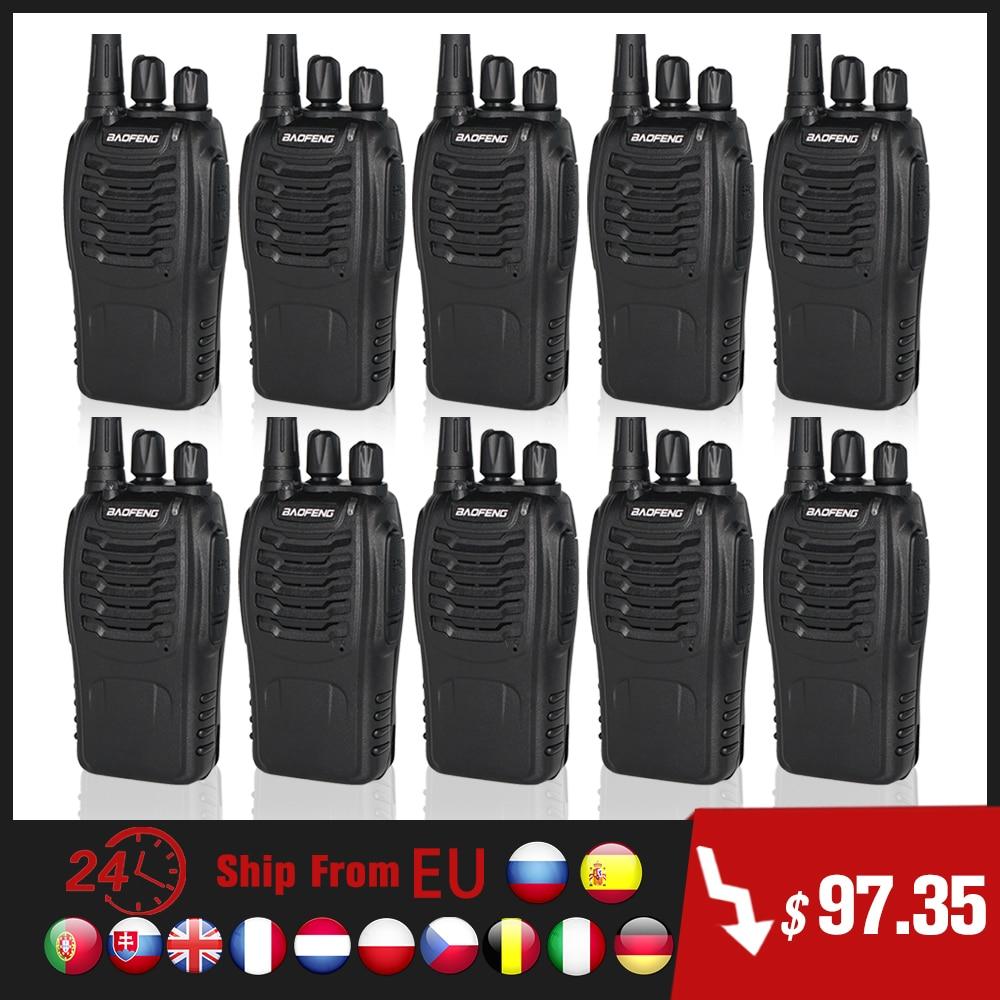 10pcs/lot BAOFENG BF888S Walkie Talkie UHF Ham CB Radio BF-888S FM Transceiver 5W 16CH Handheld Two Way Radio 888S wholesale