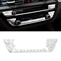 for bmw 5 series 528 530 g30 540li 2018 abs chrome car center console air condition switch buttons cover trim