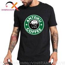 Camiseta de café de sangre Anteiku, camiseta de Ghoul de Tokio, camisetas verdes para hombres, camisetas únicas para amantes del Anime, ropa juvenil de estilo japonés, ropa de algodón No Fadr