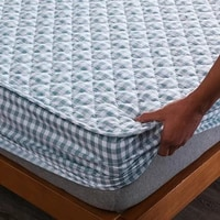 cotton thicken quilted mattress cover anti bacterial mattress protector topper pad soft fitted sheet not including pillowcase