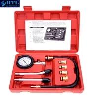 compression tester pressure gauge tester kit motor auto petrol gas engine cylinder car motorcycle pressure gauge with adapter