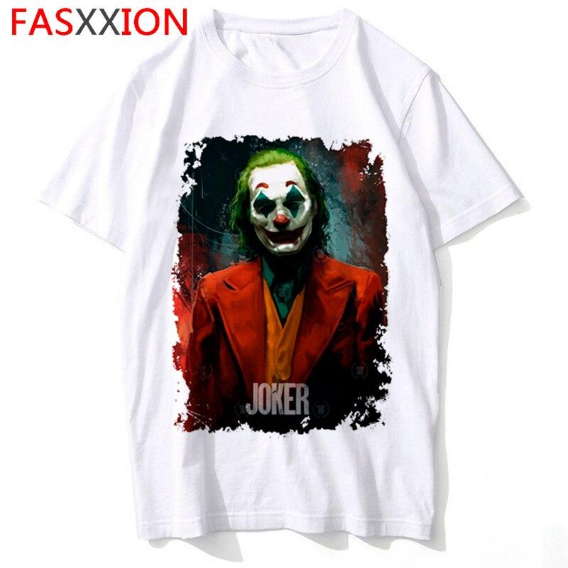 Divertidas camisetas del Joker Joaquin Phoenix con dibujos animados, camisetas de Horror para hombre y mujer, camisetas de Noche de Brujas, camisetas Hip Hop, ropa de calle, camisetas para hombre y mujer