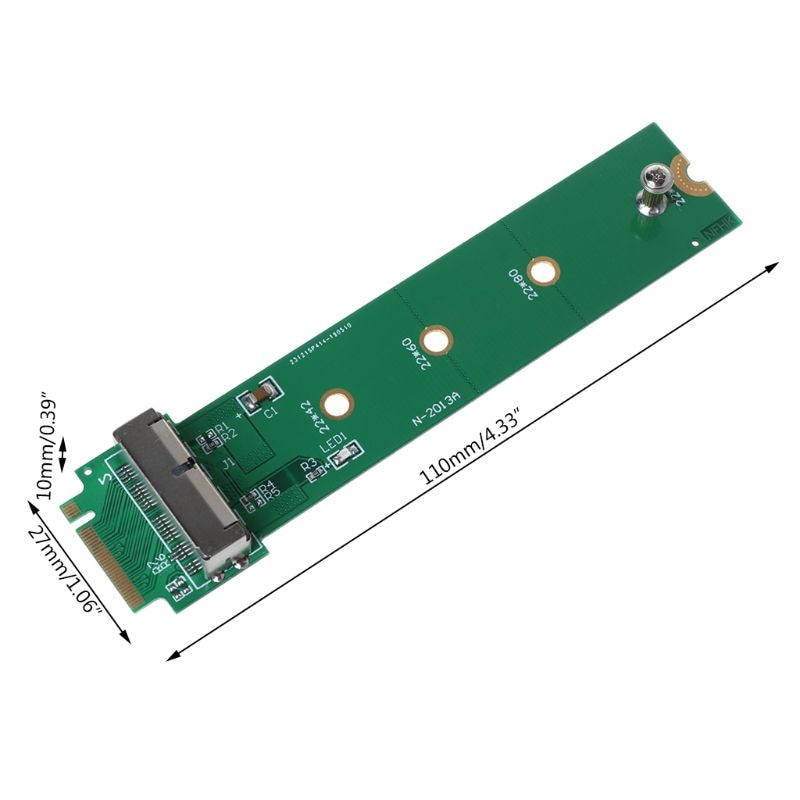 Купить с кэшбэком For MacBook Air Pro 12+16 Pins SSD to M.2 Key M (NGFF) PCI-e Adapter Converter Card for PC Computer Accessories