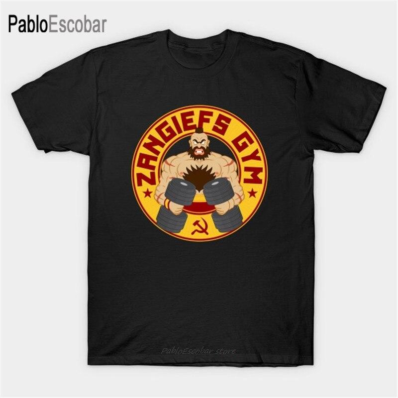 Camiseta de algodón para hombre, camiseta de verano Zangiefs Gym, camiseta BYO vodka man shubuzhi, camiseta de talla grande