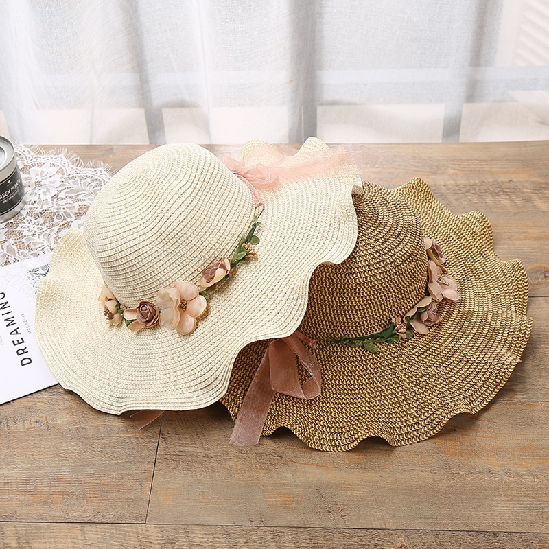 2020 Summer Straw Hat Women Big Wide Brim Beach Hat Sun Hat Foldable Sun Block UV Protection Panama Hat Bone Chapeu Feminino