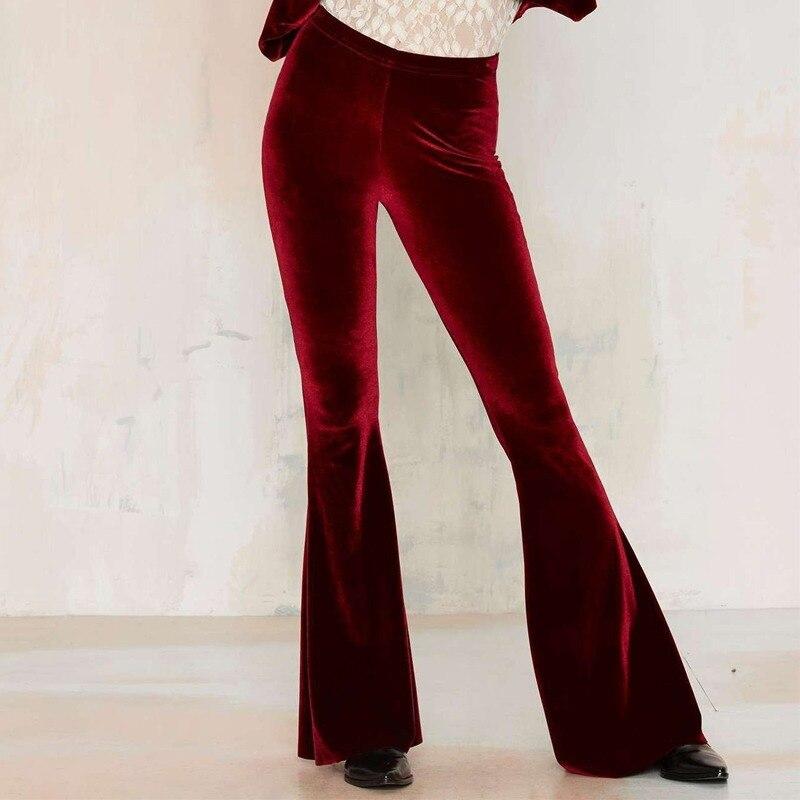 Бархатные золотые шелковые Стрейчевые брюки с высокой талией, женские элегантные большие женские брюки, женские брюки, 2021