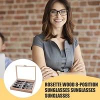 eyeglass sunglass storage box 8 slot wooden glasses display case storage organizer display glasses jewelry holder collection