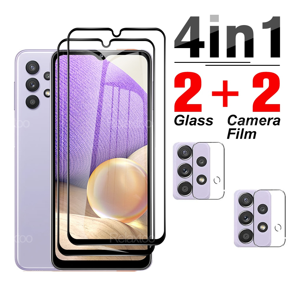 4-in-1-tempered-glass-camera-lens-protective-for-samsung-galaxy-a32-5g-4g-a-32-32sm-a326f-dsn-65''-phone-screen-protector-film