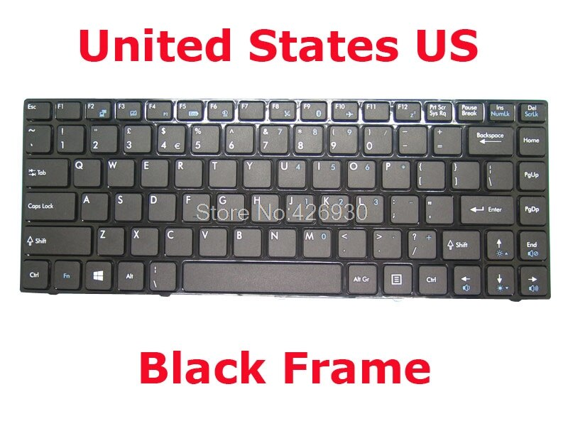 EUA RU TI GR Teclado Para MSI CR420 CR460 V111822CK1 AR S1N-2EAR221-SA0 FS S1N-2EFS221-SA0 GR S1N-2EDE241-SA0 ELE S1N-2EIT221-SA0