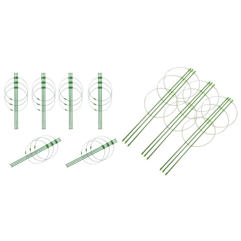 6 قطعة تسلق كرمة رف مصنع دعم أقفاص مع 3 قابل للتعديل خواتم 45 سنتيمتر و 6 قطعة مصنع دعم قفص 60 سنتيمتر