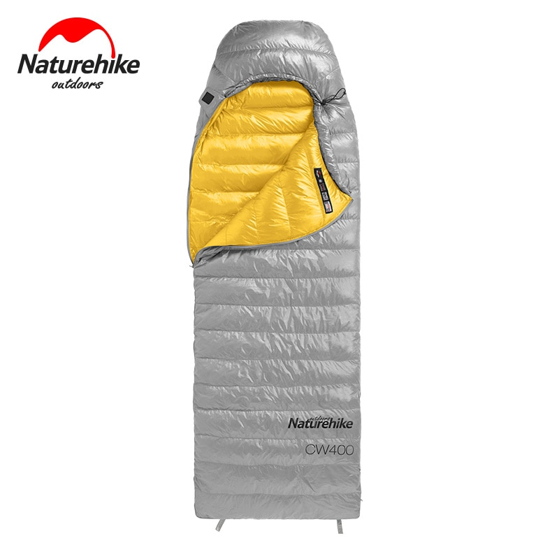 down sleeping bag autumn and winter outdoor adult envelope style thickening thermal duck down sleeping bag 400 1500g filling Naturehike Goose Down Sleeping Bag CW400 Waterproof Sleeping Bags Envelope Backpacking Traveling Hiking Camping Sleeping Bag