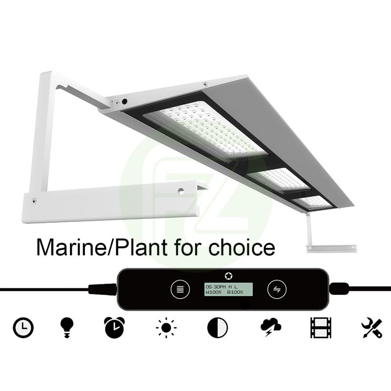 Fzone MicMol iPhone Style Aquarium Full Spectrum Led Light for Aquacping Tanks Fresh/Marine for Choice