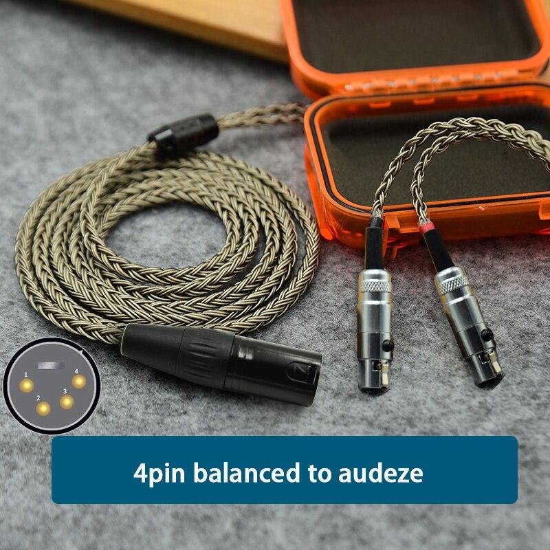 Auricular equilibrado XLR de 16 pulgadas, Cable de actualización Chapado en plata...