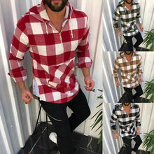 2020 mode Herren Hemd Mantel Helle Plaid Beiläufige Hoodies Sweatshirt Langarm Coole Tasche Hüfte Shirt Top Pullover Outwear Neue