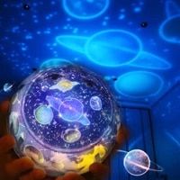easter starry sky night light planet magical projector earth universe led colorful rotate flashing star kids gift for home decor