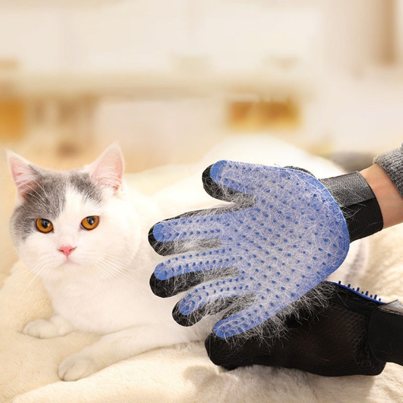 Dog Pet brush Glove Deshedding Gentle Efficient Cat Grooming Supply Bath Cleaning Supplies Combs