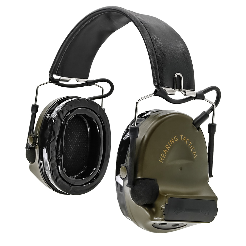 HEARING TACTICAL Tactical Headset IPSC COMTAC II Hearing Protection Noise Reduction Earmuffs Airsoft Shooting Hunting Headset