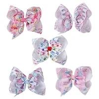 new fashion kawaii sheep print bowkont hair clip hair accessories for girls children bb clip barrettes baby spinki do wlosow