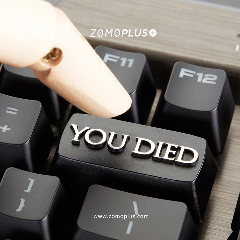 مفتاح كاب الميكانيكية لوحة المفاتيح غرار keycap شخصية تصميم ، النفوس المظلمة كنت توفي شعار الكرز MX محور الألومنيوم سبائك كيكابس ، M38